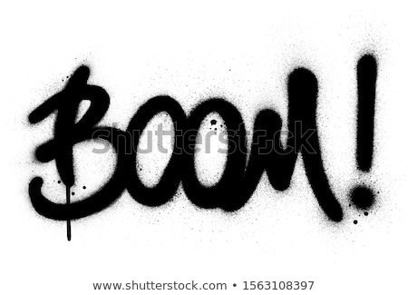 Doopvont graffiti zwart wit kunst stijl splatter Stockfoto © Melvin07