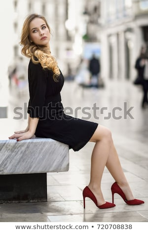 attractive red hair girl long leg and high heels Stock photo © fotoduki