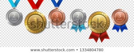sport medals with blue ribbon stock photo © bluering