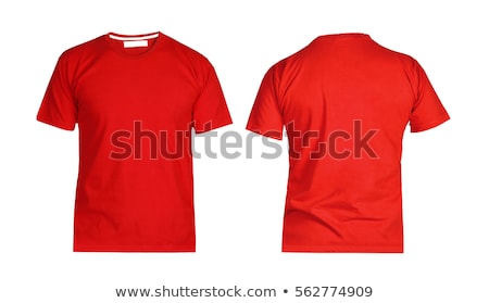 Stockfoto: Rood · tshirt · geïsoleerd · witte · sport · lichaam