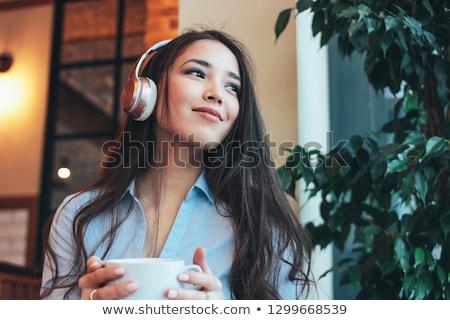 charming brunette Stock photo © seenad