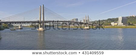Tillikum crossing bridge Portland Oregon. stock photo © Rigucci