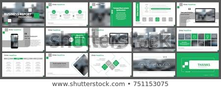 Business piano verde bordo gruppo matite Foto d'archivio © fuzzbones0