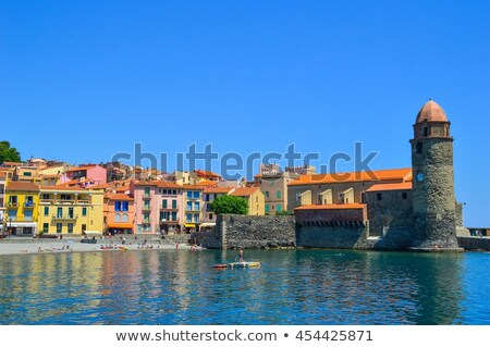 the town Collioure in France Stock photo © LianeM