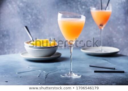 dois · cocktails · comida · fundo · laranja · bar - foto stock © alex9500