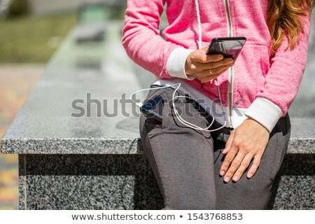 black smartphone charged usb Stock photo © romvo
