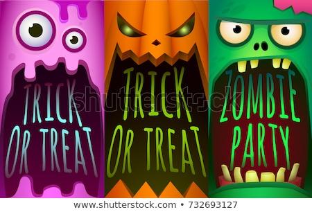 Ilustração halloween monstro zumbi abóbora formato Foto stock © yuriytsirkunov