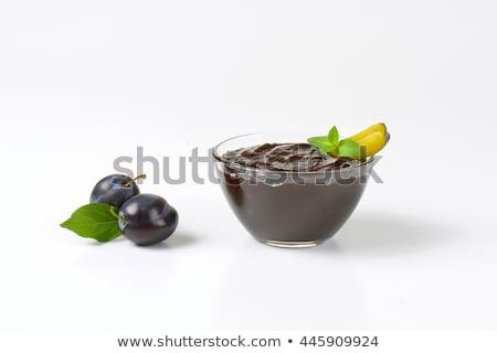 ボウル 梅 ジャム 自家製 スプーン 新鮮な ストックフォト © Digifoodstock