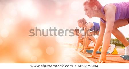 giovani · atleta · inizio · sani · giovane · line - foto d'archivio © dotshock
