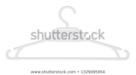 Plastic hanger witte Blauw kleerhanger geïsoleerd Stockfoto © ajt