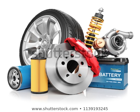 Batteries and accumulators on a white background. Stock photo © borysshevchuk