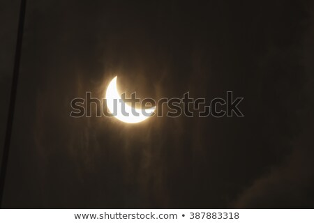 zonne · eclips · wolken · zon · abstract · licht - stockfoto © juhku