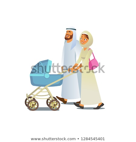 Arap çift mutlu Müslüman aile Stok fotoğraf © NikoDzhi