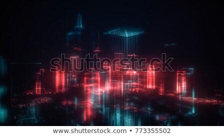 Digitale futuristico particelle design scienza comunicazione Foto d'archivio © SArts