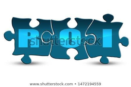 bingó · csempézett · szó · izolált · fehér · írott - stock fotó © enterlinedesign
