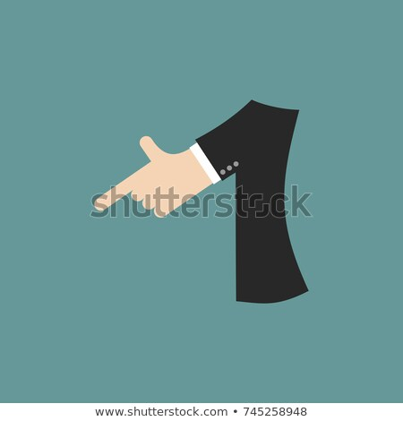 number 1 letter businessman hand font. It shows finger print. Ar Stock photo © popaukropa
