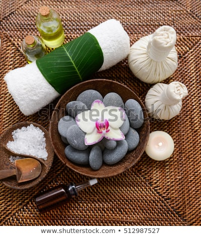 spa setting with orchid stock photo © dashapetrenko