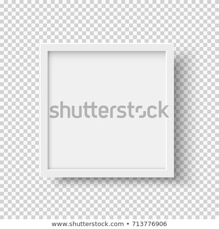 Bianco piazza cornice dettagliato foto Foto d'archivio © pakete