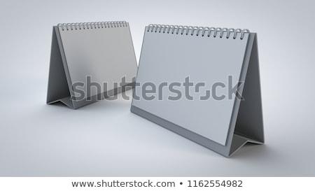 Сток-фото: изображение · столе · календаря · изолированный · 3D