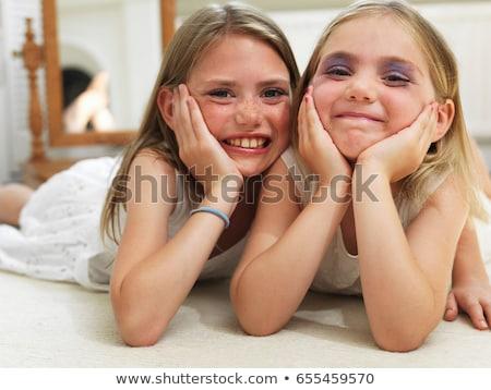 Amigos make-up criança beleza diversão Foto stock © IS2