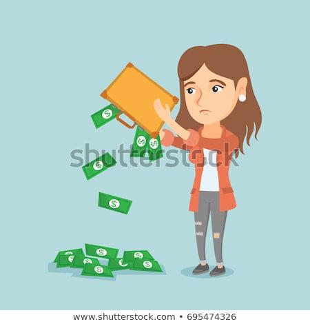 из деньги портфель депрессия деловой женщины Сток-фото © RAStudio