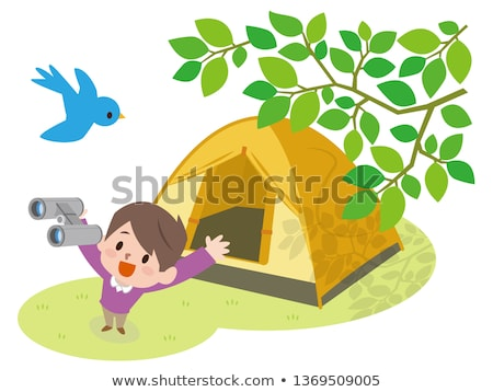 Boy looking out of tent Stock photo © IS2