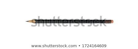 Black pencil on white Stock photo © ajt