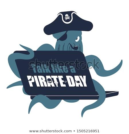 Internazionali parlare come pirata giorno polpo Foto d'archivio © popaukropa