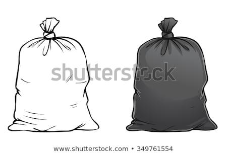 ごみ 2 黒 袋 家庭 廃棄物 ストックフォト © Kotenko