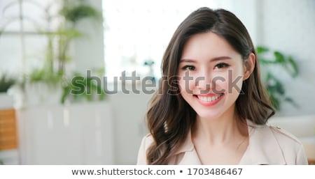 Lächelnd einfache erschossen aufrichtig Stock foto © filipw