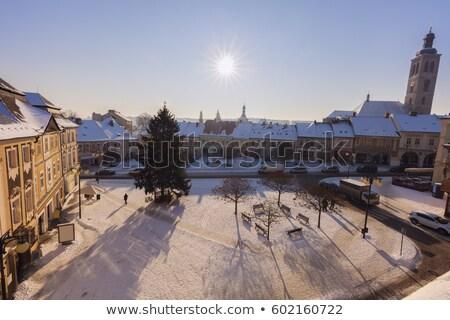 Main Square of Kutna Hora Stock photo © benkrut