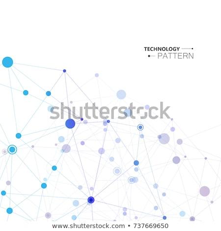 Social media ilustracja linie kropka formularza fali Zdjęcia stock © m_pavlov
