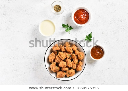 Grill Huhn Ketchup Essen Abendessen rot Stock foto © Alex9500