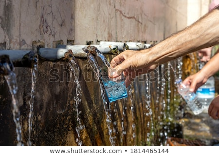 Cold water from the source Stock photo © Kotenko