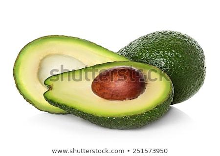 Halved avocado on the white background Stock photo © Alex9500