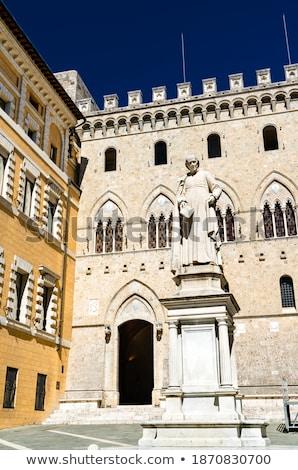 Monument of Sallustio Bandini at Square Salimbeni in Siena Stock photo © boggy