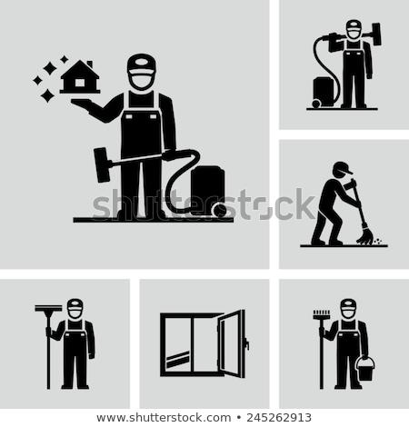 Vloer zorg schoonmaken diensten tool vector Stockfoto © robuart