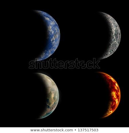 Dört gezegen örnek doğa manzara arka plan Stok fotoğraf © colematt