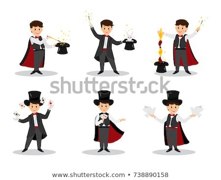 Ilustração mágico diversão coelho engraçado seis Foto stock © adrenalina