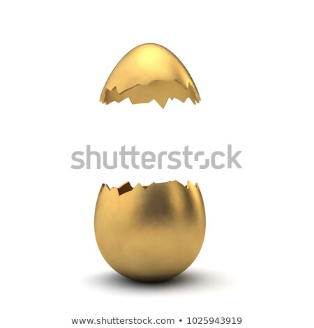 Golden Easter egg and leaves Stock photo © Artspace