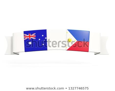 バナー 2 広場 フラグ オーストラリア フィリピン ストックフォト © MikhailMishchenko