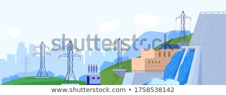 ingenieurs · werken · vallen · water · energie · elektriciteit - stockfoto © RAStudio