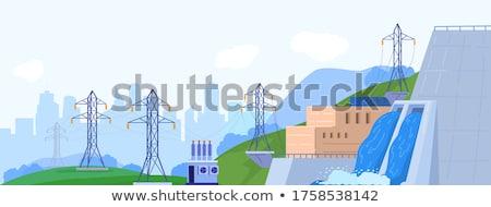 Hydropower concept vector illustration. Stock photo © RAStudio