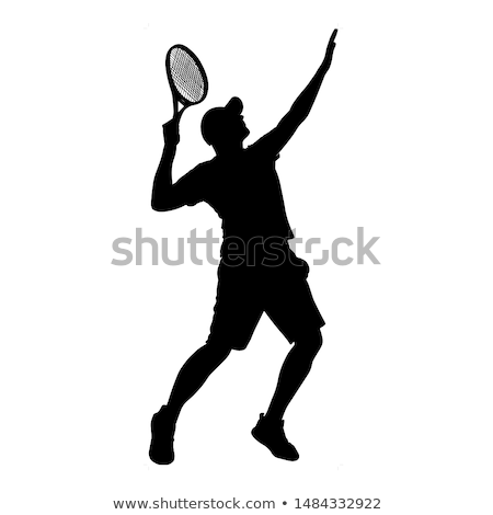 hombre · mujer · ejecutando · jugando · deporte · vector - foto stock © robuart