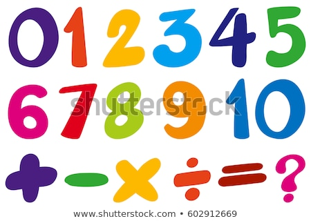 Math Vermehrung Zahl vier Illustration Design Stock foto © colematt