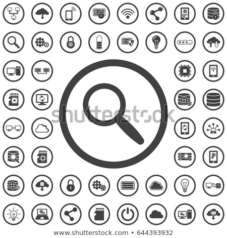 Magnifying glass icon in circle, Search Searching Looking Concept. Vector Illustration isolated on w Stock photo © kyryloff