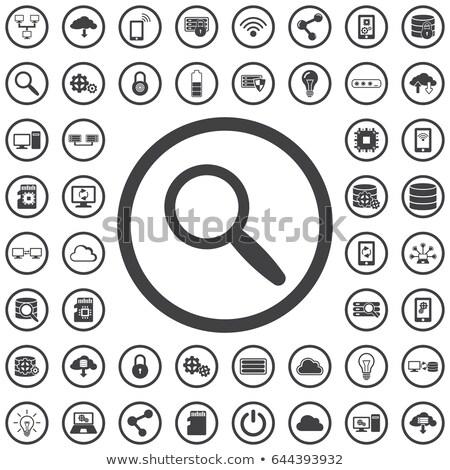 虫眼鏡 アイコン サークル 検索 検索 見える ストックフォト © kyryloff