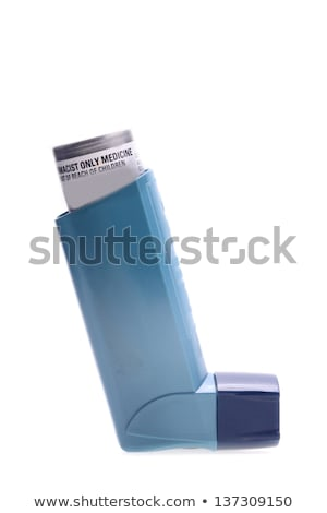 Asthma inhalers isolated over white Stock photo © Melnyk
