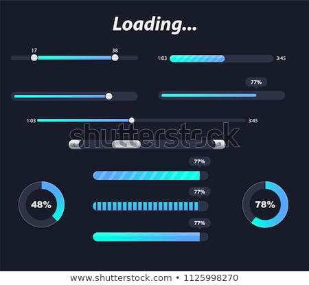 loading icon set in different colors buffer loader or preloader donload or upload collection of s stock photo © kyryloff