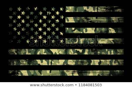 Patriotic Camouflage Red White and Blue with Stars American Pride Abstract Seamless Repeating Patter Stock photo © jeff_hobrath